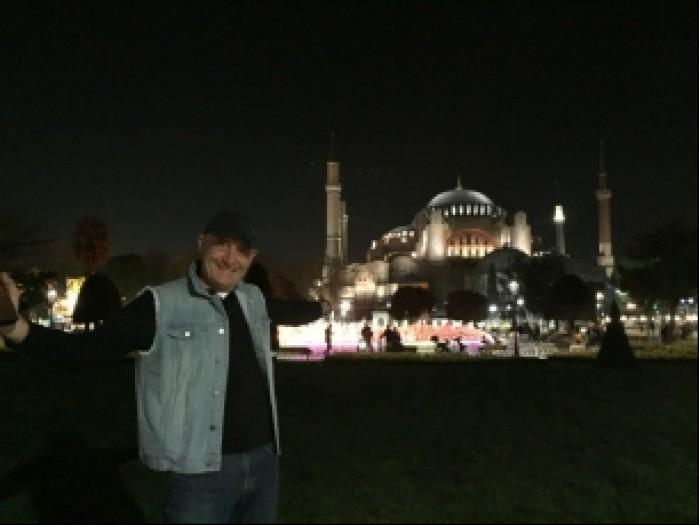 Turcja Blekitny Meczet noca