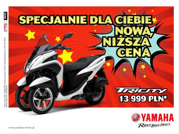 160714 Nowa ni zsza cena Yamahy Tricity