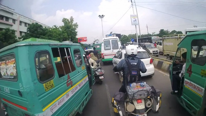 Indie na motocyklu