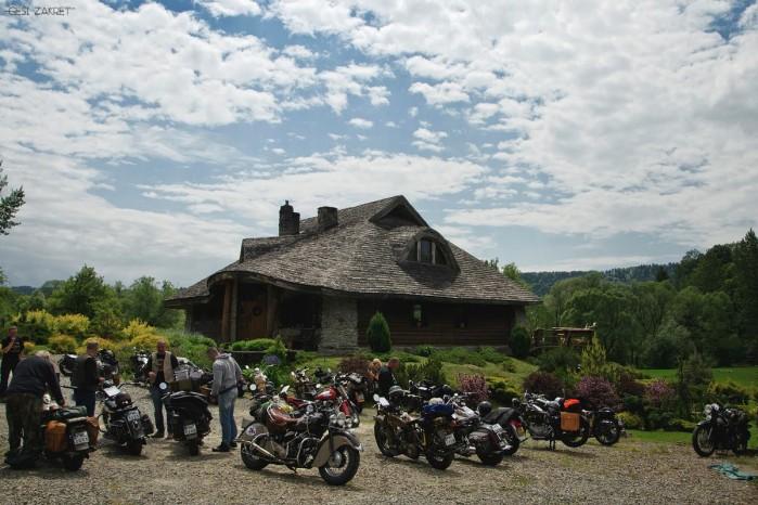 gesi zakret bieszczady motocykle
