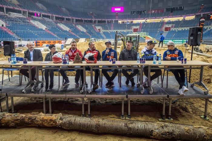 konferencja prasowa tauron arena superenduro