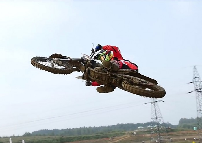 motocross wysokie loty