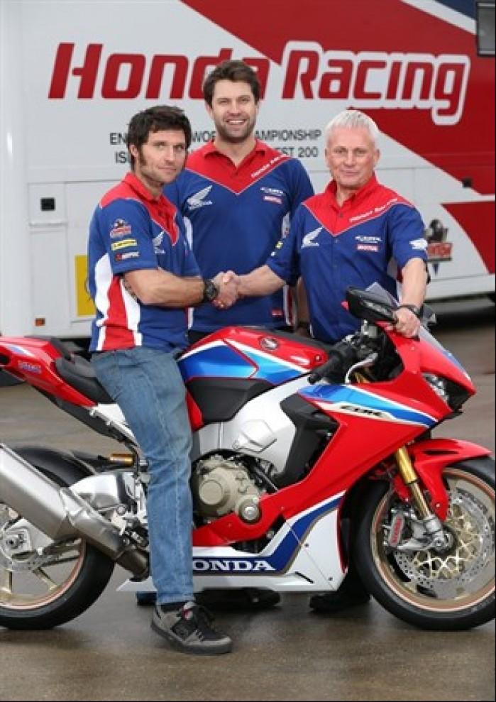 Guy Martin Honda Team 2017
