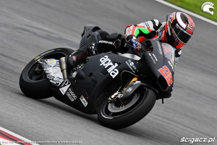 Moto GP testy na torze Sepang