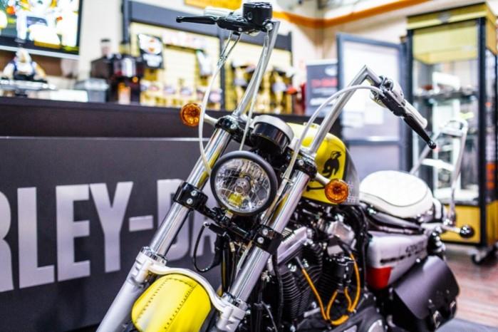 Bitwa Krolow 2017 Harley Davidson Sportster Lodz lampa