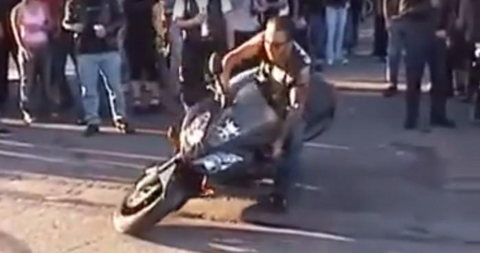 pijany motocyklista