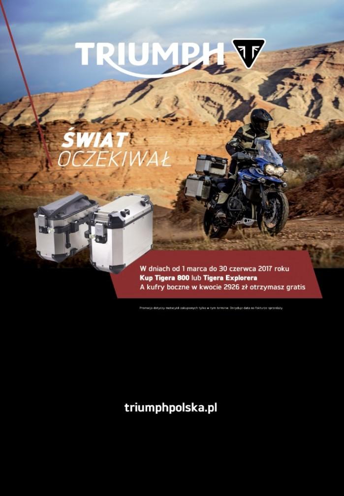 Triumph promocja kufry gratis