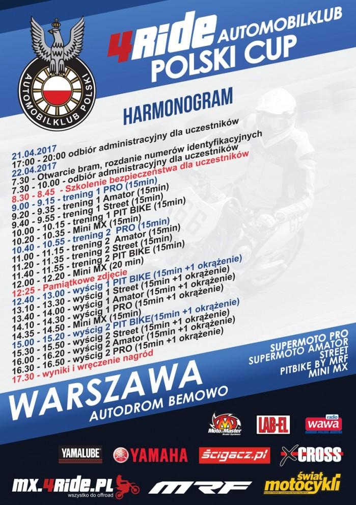 4Ride Automobil Polski Cup Harmonogram