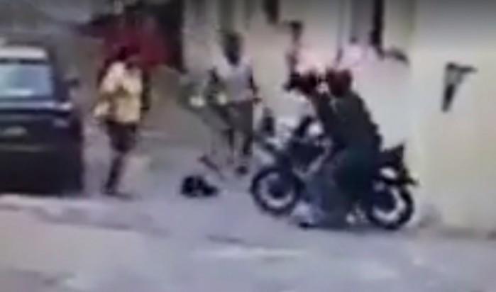 proba ucieczki zlodziei na motocyklu