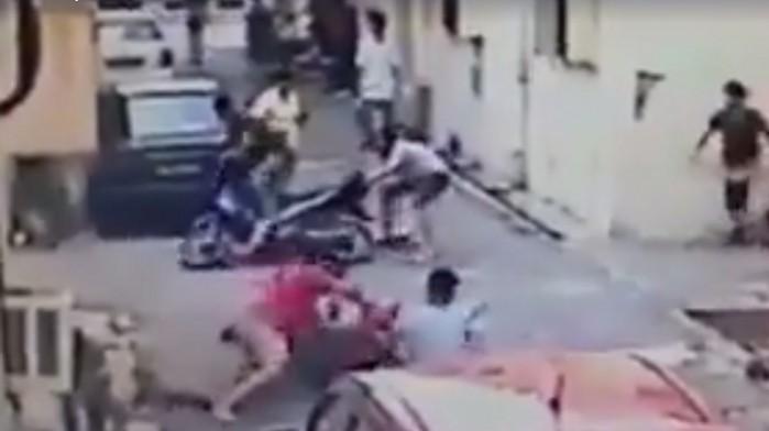 publiczny lincz na zlodziejach na motocyklu