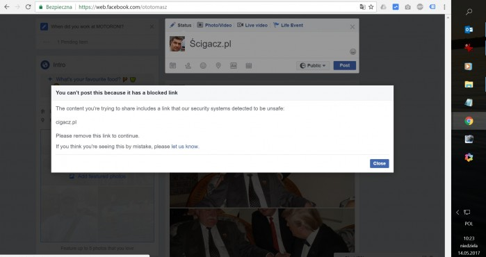 problem cigacz..pl banned as cigacz.pl