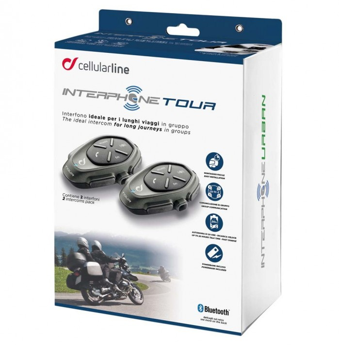 interphone cellularline interphone tour twin pack