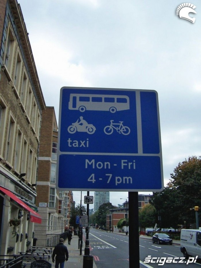 znak buspas Londyn
