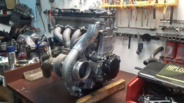 Silnik z Turbina po zlozeniu