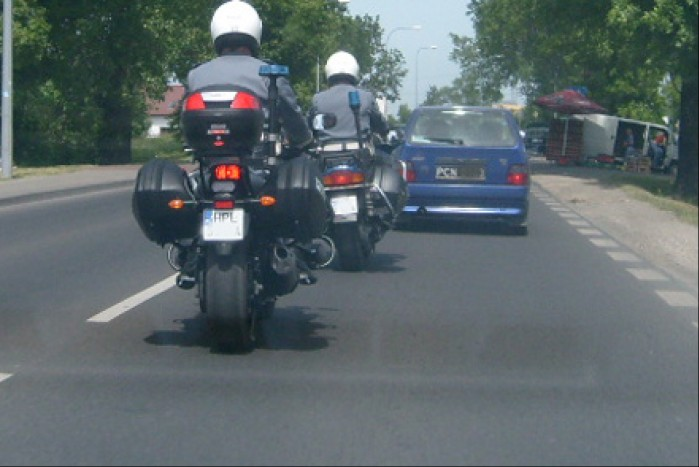 Policja na motocyklu
