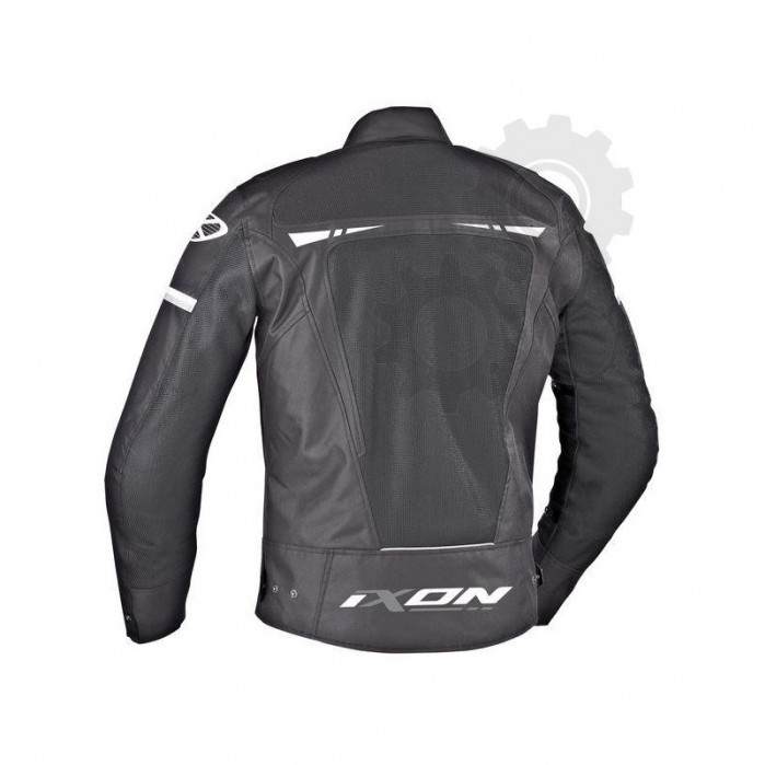 kurtka tekstylna ixon pitrace kolor czarny bialy