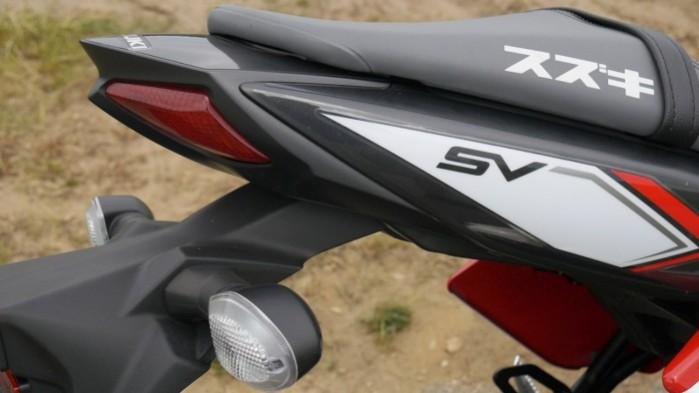 Suzuki SV 650 2017 zadupek