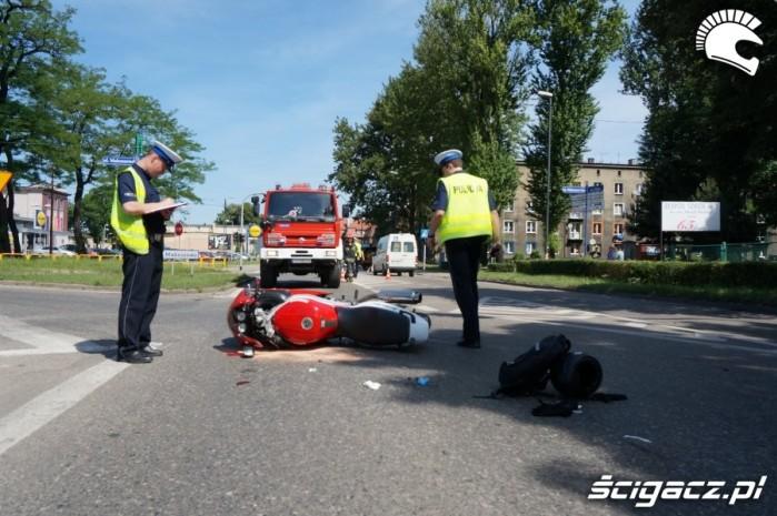 Wypadki motocyklowe 2016 Zabrze
