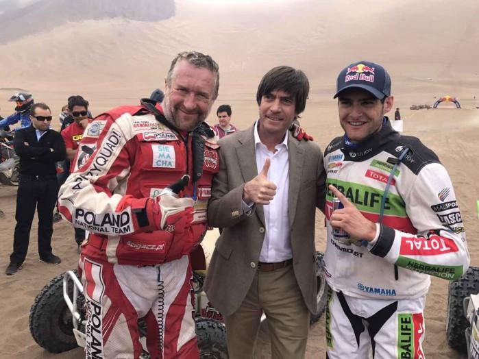 Rafal Sonik Ignacio Casale i chilijski minister sportu