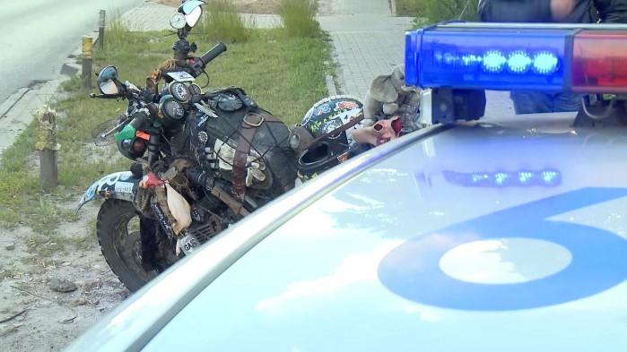 rat bike zatrzymany przez policje