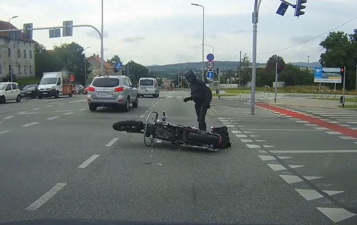 Wypadek motocyklisty Walbrzych