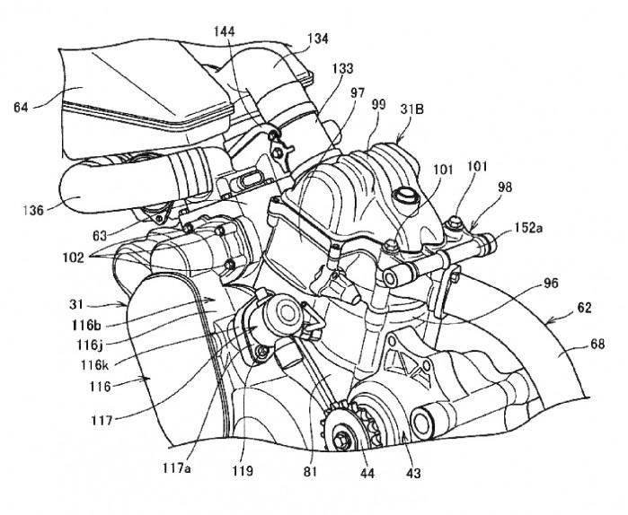 Honda power naked turbo motor