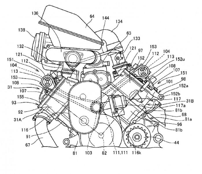Honda power naked turbo silnik