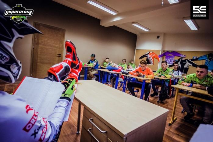 Superszkola przed Mistrzostwami Europy Supercross w Gdansku 2