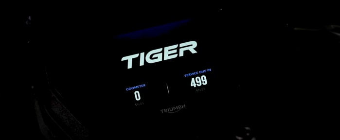 2018 Triumph Tiger zegary
