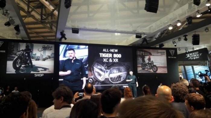 prezentacja Triumph Tiger 800 Eicma