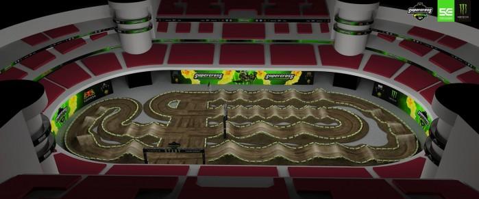 Tor na Mistrzostwa Europy w Supercrossie Ergo Arena
