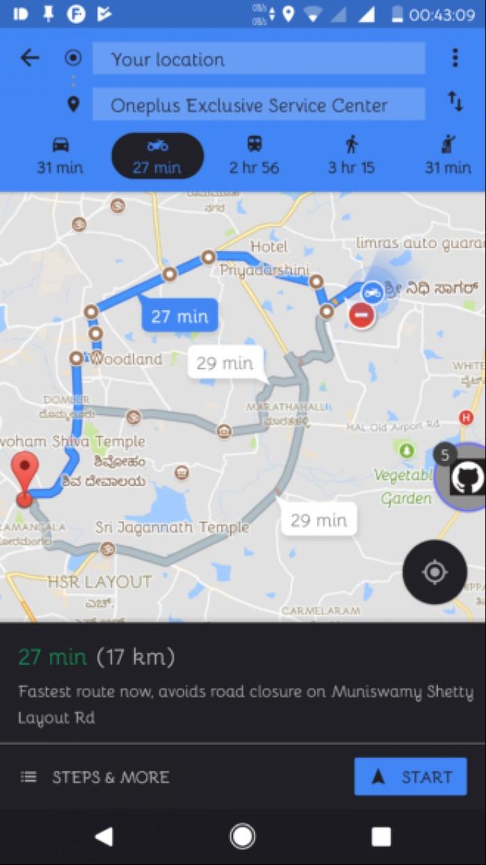 google maps dla motocyklistow