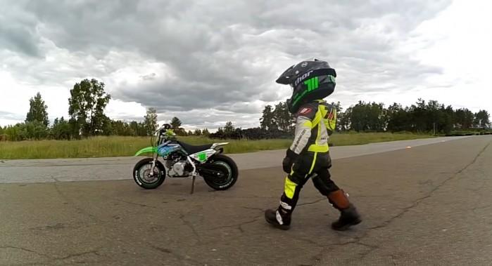 Tima Kuleshov motocyklista