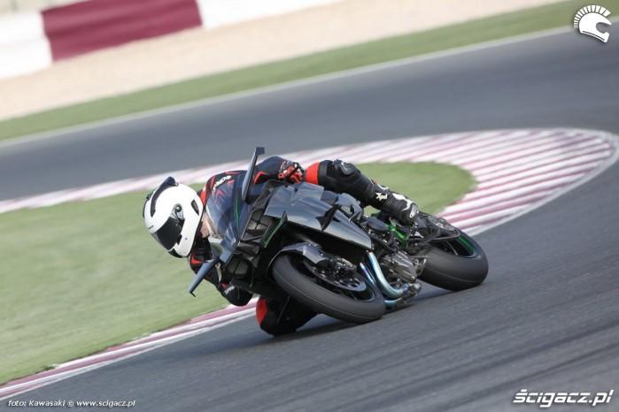 Kawasaki H2 R na torze