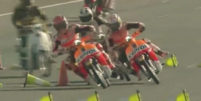 Marc Marquez vs Dani Pedrosa Honda Super Cub