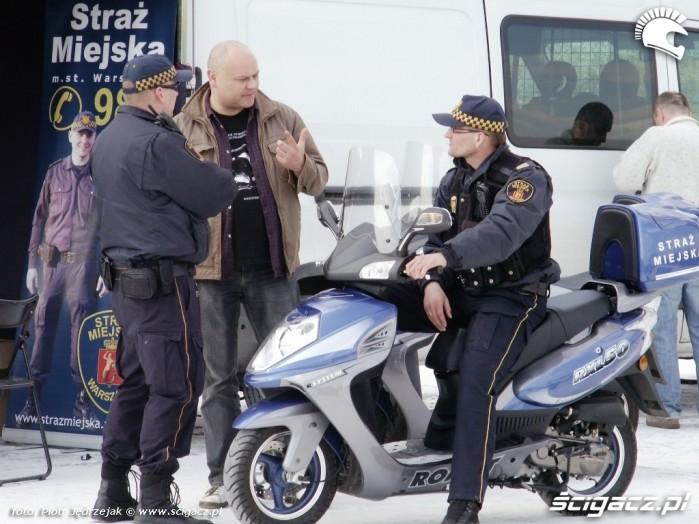 straz miejska Otwarcie sezonu motocyklowego Bemowo 2010