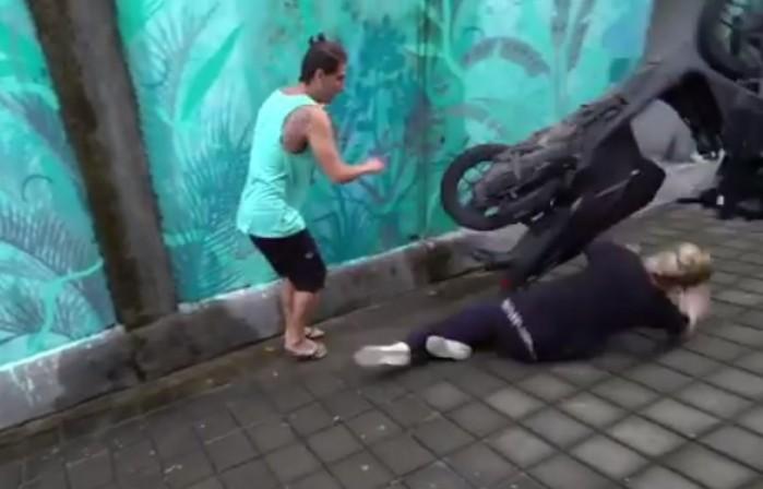 gleba na skuterze