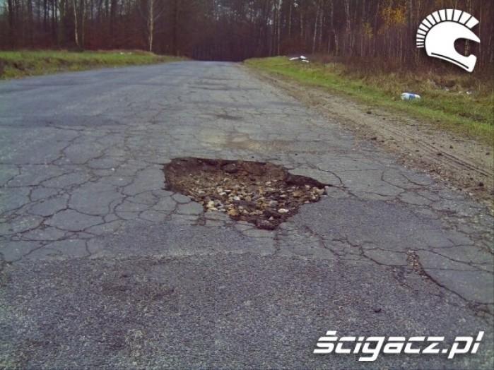 6 dziura w drodze