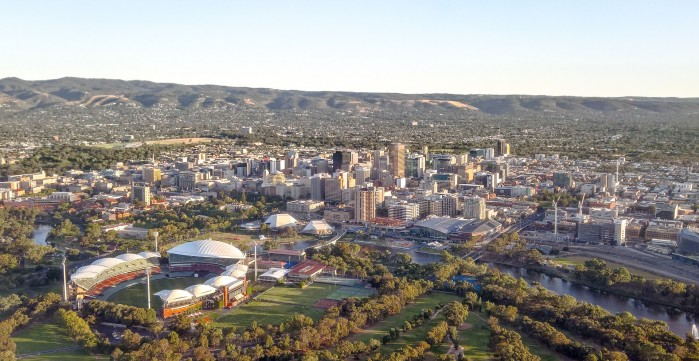 Adelaide city centre view