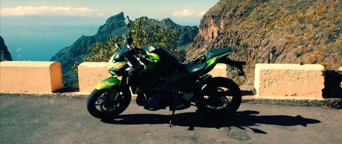 Teneryfa na motocyklu statyka