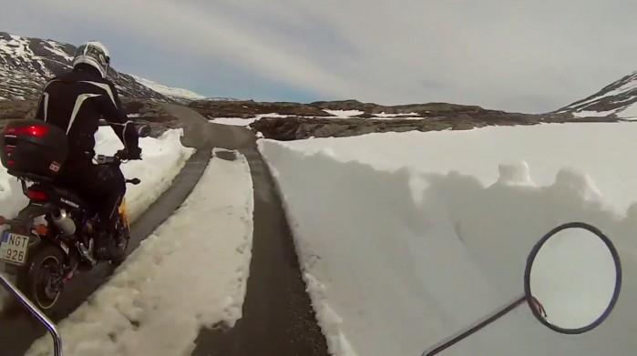 motocyklem w Norwegii