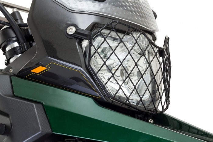 Romet ADV 400 2017 ser zielony lampa przod 1
