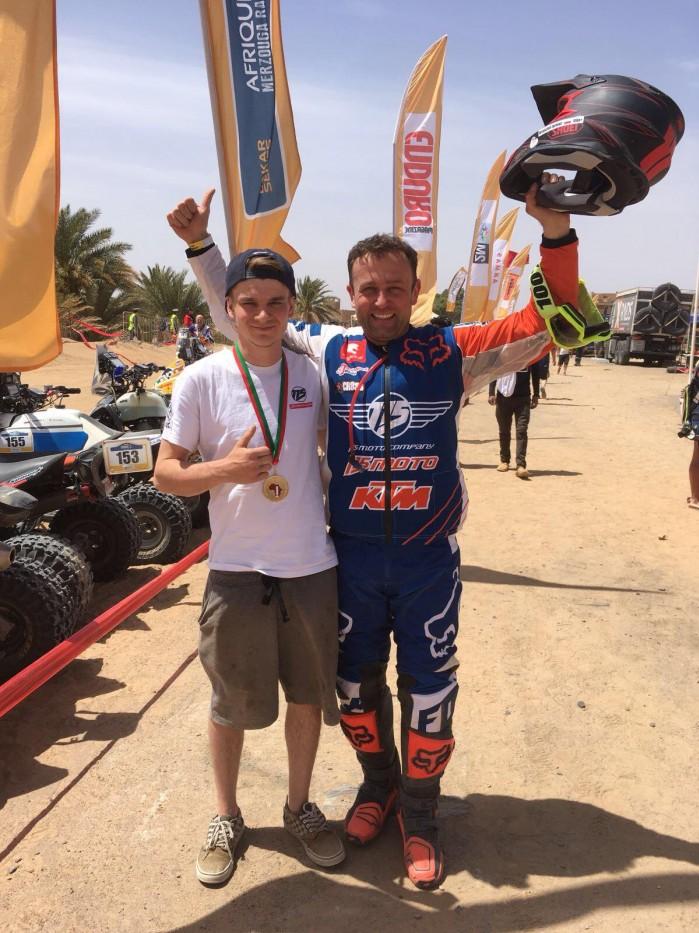 Merzouga Rally 2018 meta Rafal Chryc Krzysztof jarmuz