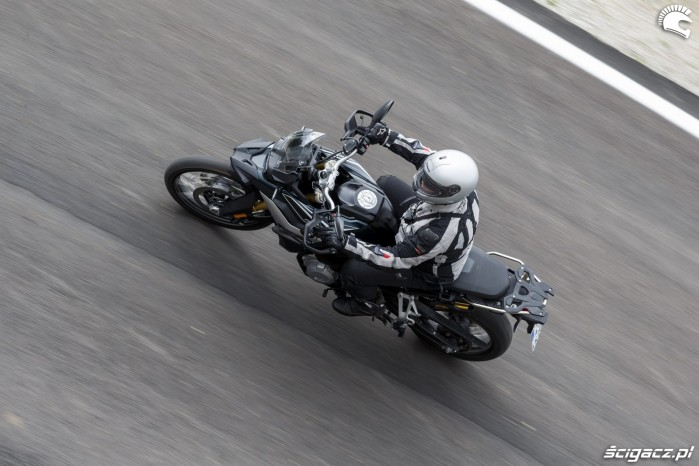 BMW F850GS Exclusive road above