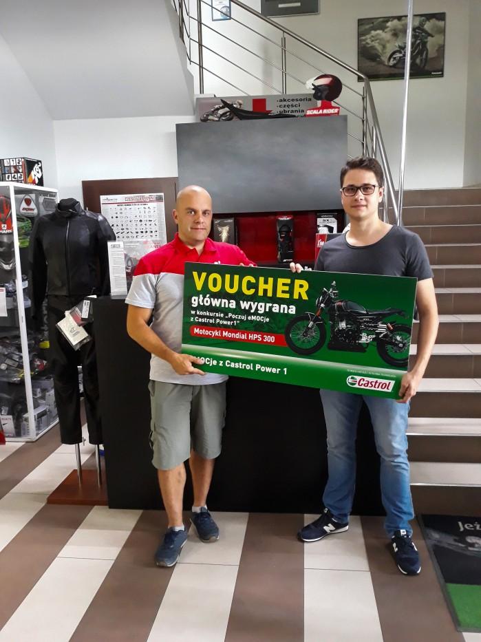 Pierwszy zwyciezca w konkursie Poczuj eMOCje z Castrol Power1