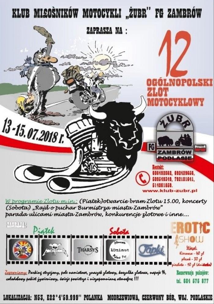 plakat zlot ZUBR 2018