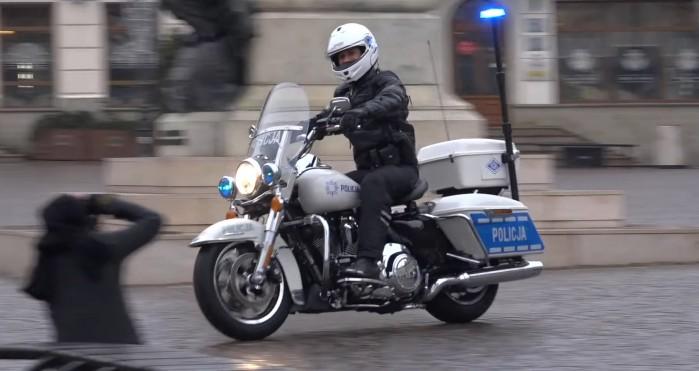 Policja w Rzeszowie Harley Davidson Road King