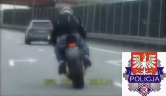 ucieczka motocyklisty przed policja