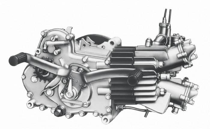 Moto Guzzi Galletto motor