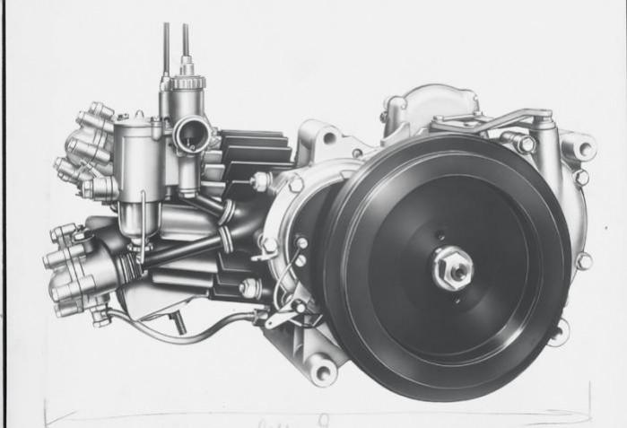 Moto Guzzi Galletto silnik